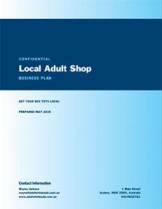 Adult Shop Business Plan
