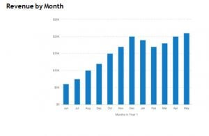 revenue by month